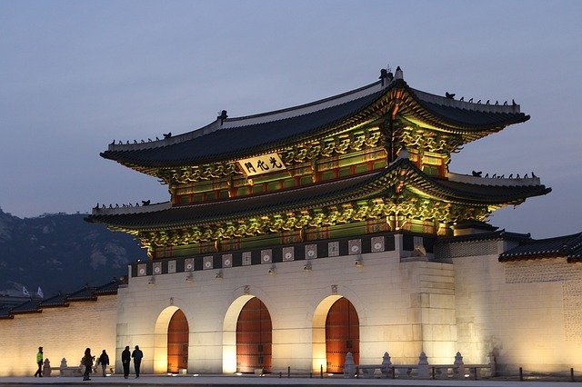 韓国、ソウルにある世宗路光化門故宮史跡